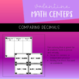 Valentine's Day Math Center | Decimal Equivalencies | PRIN
