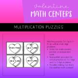 Valentine's Day Math Center | Multiplication Puzzles | PRI