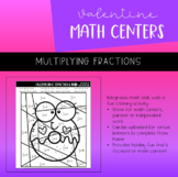 Valentine's Day Math Center | Multiplying Fractions | Colo