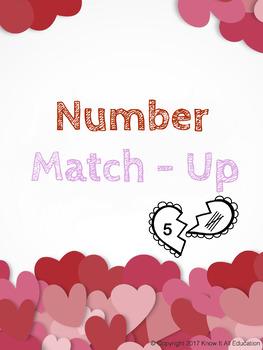Valentine's Day Math Center: Match Numbers, Tally Marks & Base Ten Blocks