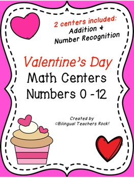 Valentine's Day Math Center - Number Recognition and Basic Addition