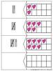 Valentine's Day Math Center Ten Frame Number Numeral Tally & Base Ten Match Up