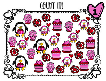 Valentine's Day Math Center for Count it! Graph it!  Tally it!