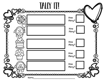 Count it! Graph it! Tally it! Math Center Freebie