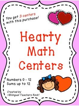 "Valentine's Day Math Center for Kindergarten ""Hearty Math"""