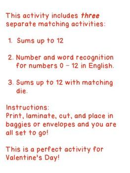 """Valentine's Day Math Center for Kindergarten """"Hearty Math"""""""