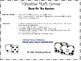 Valentine's Day Math Center for Numbers