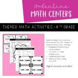 Valentine's Day Math Centers | BUNDLE | Printable and Digi