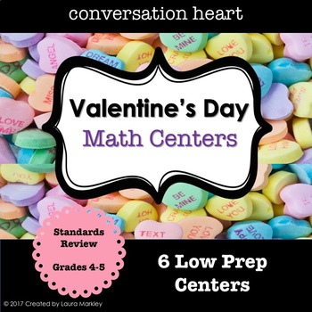Valentine's Day Math Centers Grade 4-5