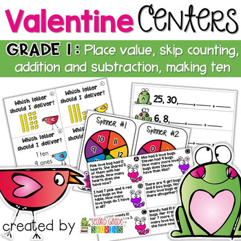 Valentine's Day Math Centers and Activities - Grade 1