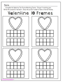 Valentine's Day Math Centers for Kindergarten