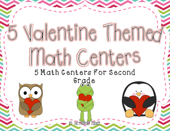 Valentine's Day Math Centers for Second Grade