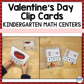 Valentine's Day Math Clip Cards