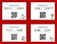 Valentine's Day Math: Comparing Decimals QR Code Task Cards