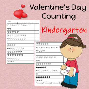 Valentine's Day Math Counting Sheets