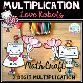 Valentine's Day Math Craft | 2 Digit Multiplication