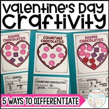 Valentine's Day Math Craft-Differentiated