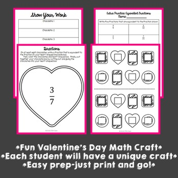 Valentine's Day Math Craft: Equivalent Fractions