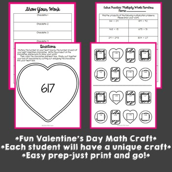 Valentine's Day Math Craft: Multiplying 3-Digit by 2-Digit Numbers