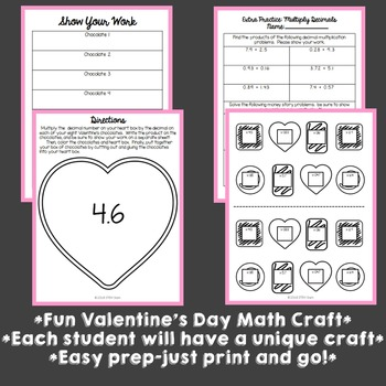 Valentine's Day Math Craft: Multiplying Decimals