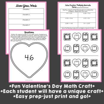 Valentine's Day Math Craft: Multiplying Decimals