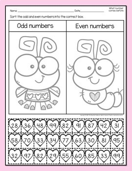 Valentine's Day Math Cut and Glue Printables