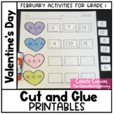 Valentine's Day Math Cut and Paste Printables