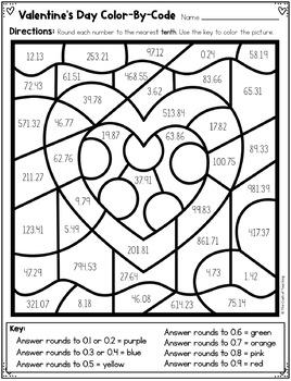 Valentine's Day Math - Decimals