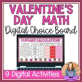 Valentine's Day Math Digital Choice Board