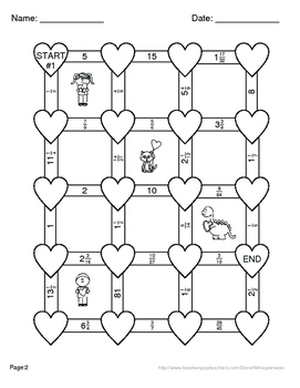 Valentine's Day Math: Dividing Fractions Maze
