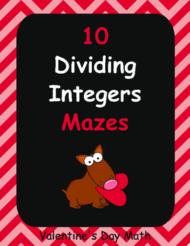Valentine's Day Math: Dividing Integers Maze