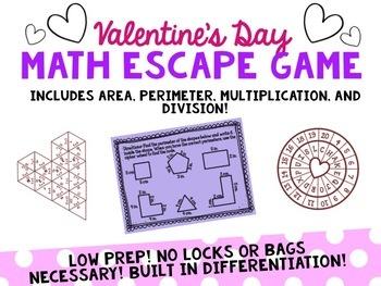 Valentine's Day Math Escape Game