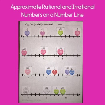 Valentine's Day Math FREEBIE Approximate Rational Irrational Numbers
