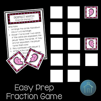 Valentine's Day Math Fraction Station Activities