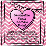 Valentine's Day Math Fractions Packet