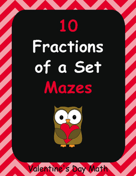 Valentine's Day Math: Fractions of a Set Maze