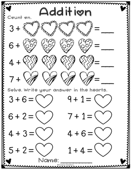 Valentine AB Patterns and Addition