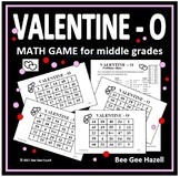 Valentine's Day Math Game for Middle Grades (VALENTINE-O)
