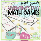 Valentine's Day Math Games- 5th Grade CCSS