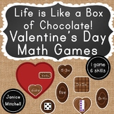 Valentine's Day Math Games Addition, Subtraction, Number Words, Dice Patterns