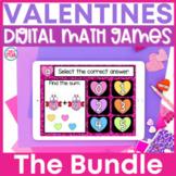 Valentine's Day Math Games | GOOGLE Classroom Bundle