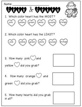 Valentine's Day Math: Grab, Count and Graph