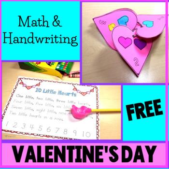 Valentine's Day Math Handwriting