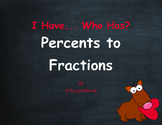 Valentine's Day Math: I Have, Who Has - Percents to Fractions