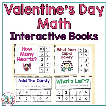 Valentineu0027s Day Math Interactive Books By Mrs Ps Specialties | Tpt   Valentine  Math