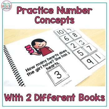 Valentine's Day Math Interactive Books