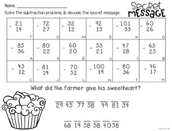 Valentine's Day Math Jokes: Addition, Subtraction, Multiplication Fact Practice