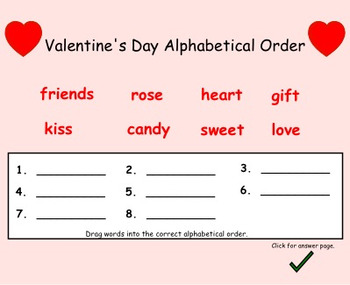 Valentine's Day Math/Language Activities for Gr. 1 Interactive Smartboard Lesson