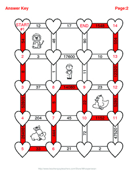 Valentine's Day Math: Length Conversions Maze - U.S. Customary Units