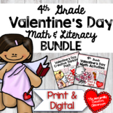 Valentine's Day Math & Literacy BUNDLE for 4th Grade
